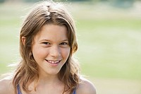 Spain, Mallorca, Portrait of a girl 10_11, close_up