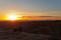 USA, Utah, Muley Point, Sunset