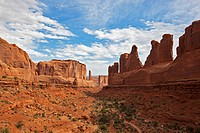 USA, Utah, Arches National Park, Courthouse Towers