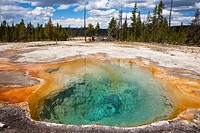 USA, Yellowstone Park, Firehole Spring