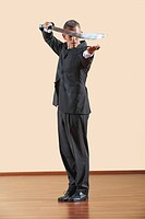 Kung Fu, Daoshu, Businessman holding sword