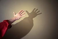 Man´s hand and shadow