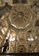 Carvings inside the Jain Temple, Ranakpur, Rajasthan, India