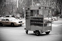 Food cart on street