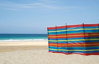 Windbreak on st ives beach
