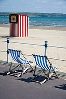 Deckchairs at weymouth beach