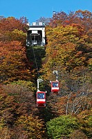cable car in autumn landscape