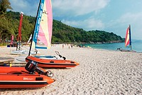 Hobie Cats on Karon Noi beach  Phuket, Thailand