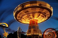 Moomba carnival, fairground rides