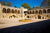 Courtyard of Dar al-Wousta, Beiteddine Palace of emir Bashir Shihab II, Lebanon