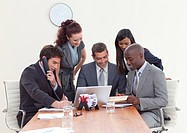 Multi_ethnic group of people working in a business meeting