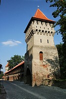 Rumania, Transylvania, Sibiu, medieval wall tower