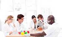 Group of scientists working in a laboratory
