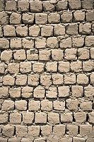 Mud bricks wall , Ladakh , Jammu & Kashmir , India