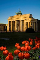 The Brandenburg Gate German: Brandenburger Tor is a former city gate and one of the main symbols of Berlin and Germany  Tulips in Front of Brandenburg...