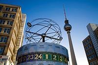 Tv Tower and World Clock Alexanderplatz Berlin Germany