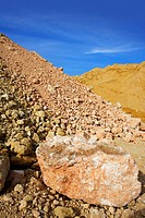sand quarry mounds of varied construction sands color