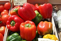 Bell peppers in box