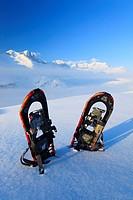 Wannenhörner und, im Winter, Wallis, Schweiz