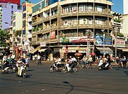 People on motorcycles, Ho Chi Minh, Vietnam