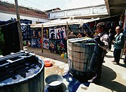 Dark Blue dye factory in Dali, Yunnan, China