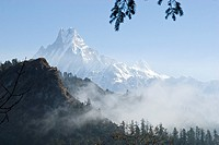 Machapuchare, Annapurna, Himalayas, Nepal