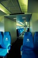Linear train seats, China