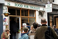 Food for Thought vegetarian restaurant in Neal Street, Covent Garden, London, England