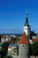 Towers and roofs in the sunlight, Tallinn, Estonia, Europe