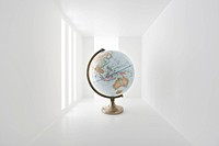 globe in empty space