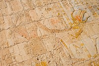 Relief Details at Hatshepsut Temple, Deir el Bahari, near Luxor, Egypt