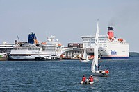 MS Bremen & Stena Scandinavica Ferry at Kiel Pier, Kiel, Schleswig_Holstein, Germany