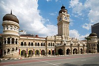 The Sultan Abdul Samad Buildings a blend of Victorian and Moorish architecture built between 1894 and 1897 now house the Malaysian Supreme Court in Ku...
