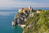 Duino castle on the coast north of Trieste, Friuli_Venezia Giulia, Upper Italy, Italy