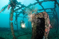 Superstructure of Kuda Giri Wreck, Maldives, South Male Atoll