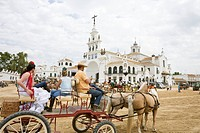 Romeria del Rocio, the most important pilgrim festival in spain, Province Huelva, Andalucia, Spain