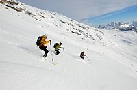 Ski Tour, Duerrenstein, South Tyrol, Italy,