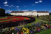 Ludwigsburg palace with garden and Neues Corps de Logis, Ludwigsburg, Baden_Wuerttemberg, Germany, Europe