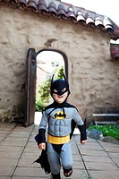 Boy in batman costume