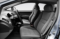 2010 Honda Civic DX in Silver _ Front seats