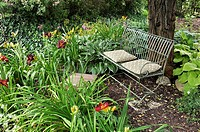 Bench in a perennial garden  Design: Marianne and Detlef Lüdke