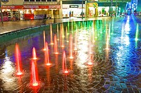 Fountains in St John's Square,Blackpool,England