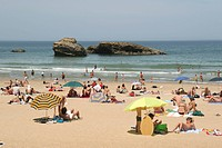 La Grande Plage Beach at Biarritz, France