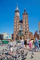 St Mary's Church Old Town Square Cracow Poland