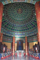 Interior of Imperial vault of Heaven Huangqiongyu, Temple of Heaven, Beijing, China