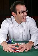 Man victory poker