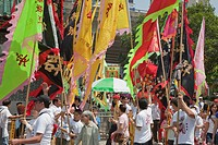 Parade celebrating the Tam Kung festival at Shaukeiwan, Hong Kong