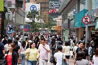 Busy Causeway Bay, Hong Kong