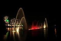 Night landscape of the Ibirapuera Park, S&#227;o Paulo, Brazil