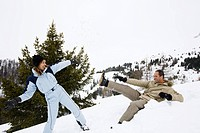 Couple winter sports